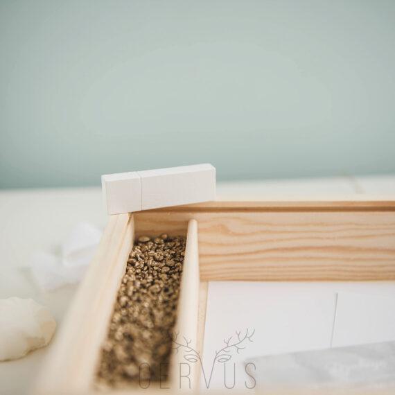 Pendrive drewniany biały