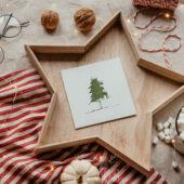 Świąteczna koperta na płytę White Christmas