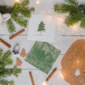 Świąteczne Opakowanie na płytę White Christmas